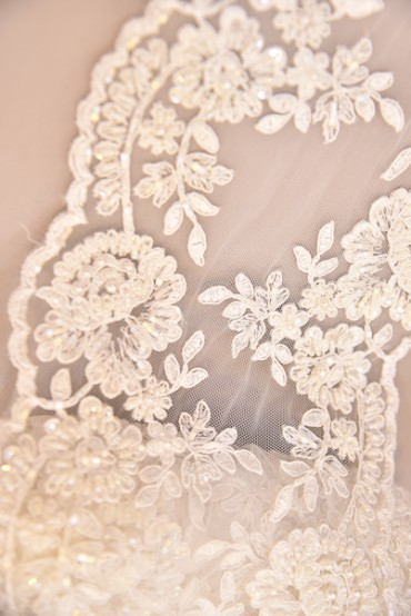 BORDER LACE BEADED