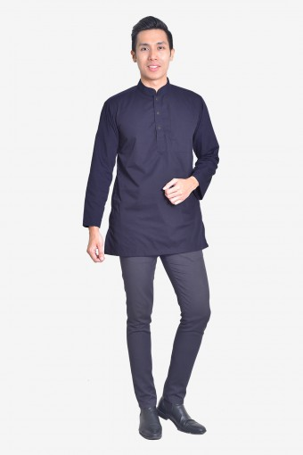 Kurta Idrees - Midnight Blue