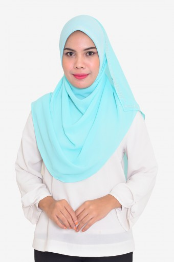 Plain Chiffon Instant Scuba With Stone